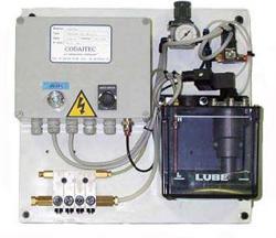 Lubrificateur de chaîne air/huile et convoyeurs