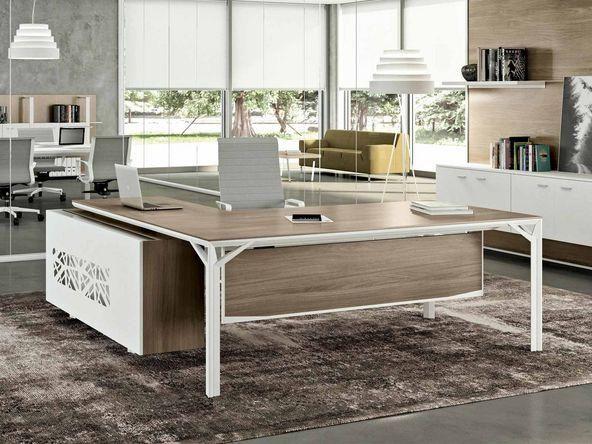 Bureau De Direction En Verre Design Italien Comparer Les Prix De