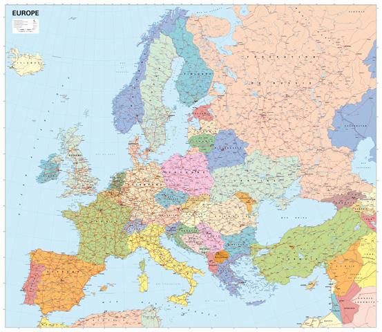 carte europe format a4