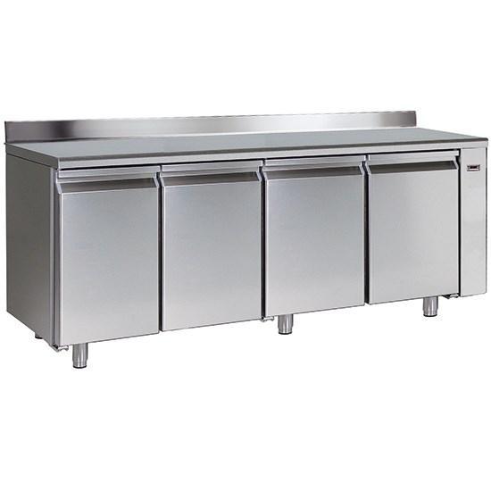 Table congélateur à distance avec 4 portes gn 1/1 et dosseret, -10°/-20°c - bnb0015/f