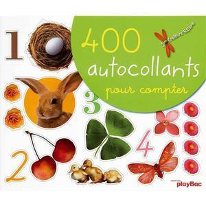 AUTOCOLLANTS COLLECTION COULEURS NATURE, FORMAT 26 X 22 CM, THÈME LES CHIFFRES