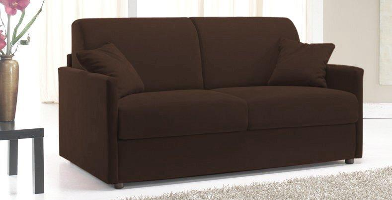 canape lit 2 3 places sun convertible rapido 120cm microfibre marron. Black Bedroom Furniture Sets. Home Design Ideas