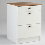 casserolier 3 tiroirs 47 cm blanc perle cassonade. Black Bedroom Furniture Sets. Home Design Ideas