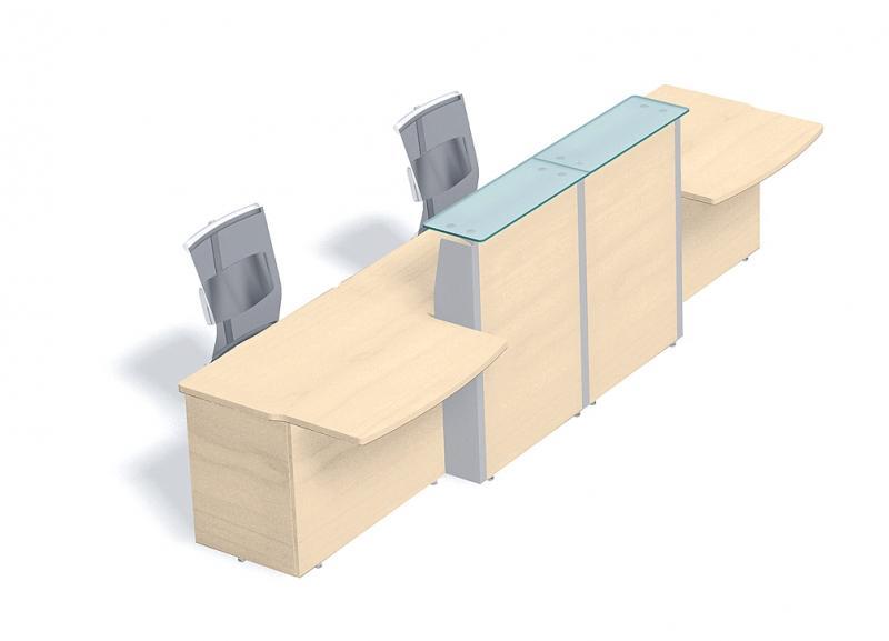 comptoir verre l 391 x p 95cm. Black Bedroom Furniture Sets. Home Design Ideas