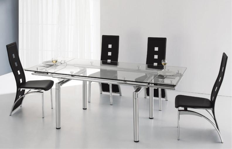 Table En Verre A Rallonge Extensible 200 140 X 80 Cm Quartz Ii