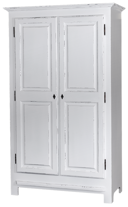 armoire 2 portes l 120 cm en pin massif provence. Black Bedroom Furniture Sets. Home Design Ideas