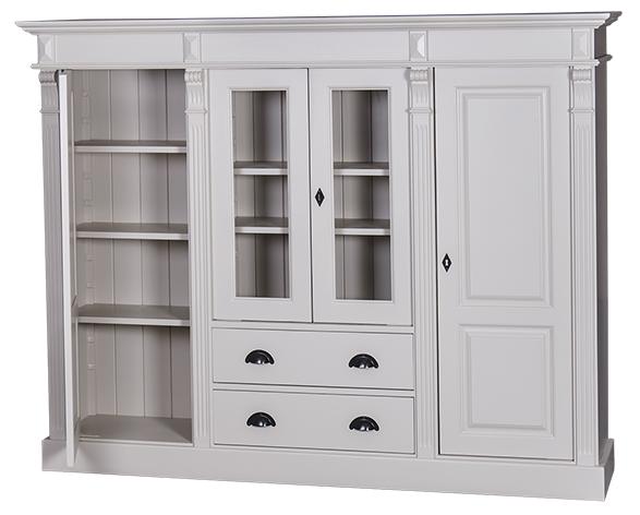 bahut en pin massif 4 portes 2 tiroirs l 180 cm 39 39 kimberley 39 39 comparer les prix de bahut en pin. Black Bedroom Furniture Sets. Home Design Ideas