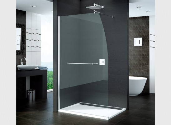paroi de douche fixe en verre transparent sanswiss voilier. Black Bedroom Furniture Sets. Home Design Ideas