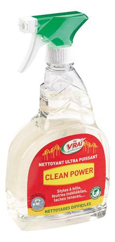 CLEAN POWER NETTOYANT ULTRA SURPUISSANT - SPRAY 750 ML - VRAI