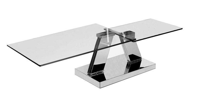 Table basse design twin glass a double plateaux pivotants - Table basse plateaux pivotants ...