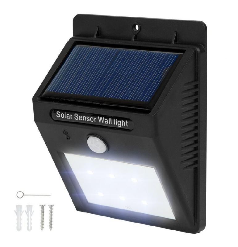 lot de 8 lumi re lampe led solaire avec d tecteur de. Black Bedroom Furniture Sets. Home Design Ideas