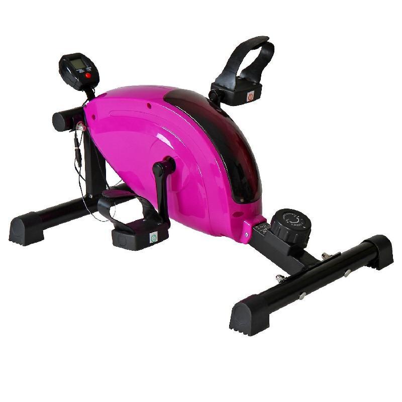 Mini vélo d\'appartement appareil fitness sport musculation avec écran et podomètre 0701069