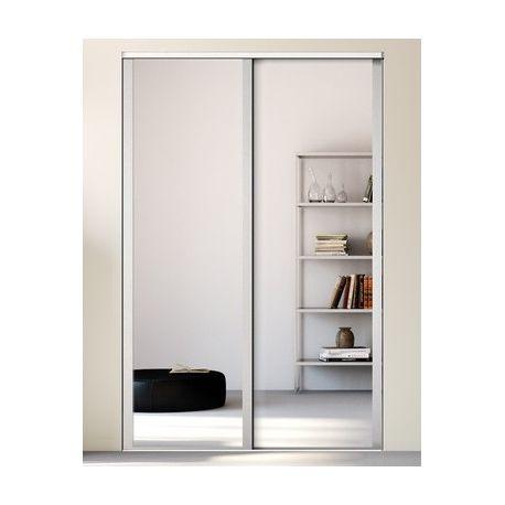 Portes de placard blanc et miroir pour la chambre leroy of for Placard miroir chambre
