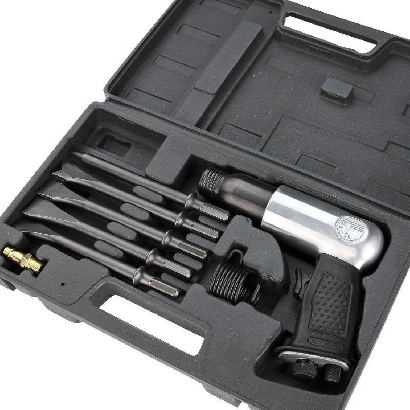 Coffret marteau pneumatique avec 5 burins noir 3401028