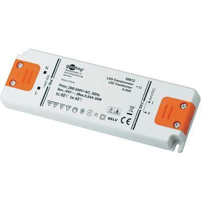 DRIVER LED GOOBAY 30612 0 - 20 W 24 V/DC