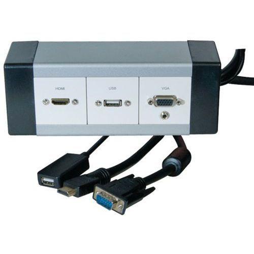 BOITIER ALU DEPORT VIDEOPROJECTEUR DVI-D/USB/AUDIO - 10M