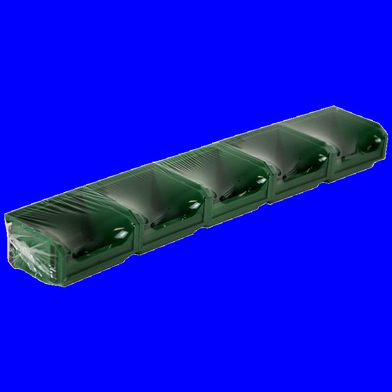 Lot de 5 Bacs European 0,3L Vert avec Barre - 5012048