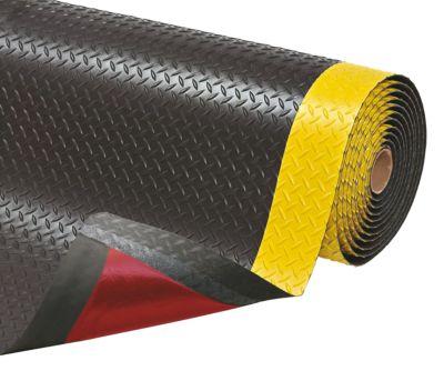 tapis anti fatigue prix au m pvc noir jaune largeur 1520 mm comparer les prix de tapis. Black Bedroom Furniture Sets. Home Design Ideas