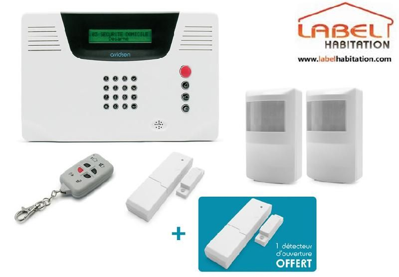 alarme maison sans fil multi zones avidsen 100753. Black Bedroom Furniture Sets. Home Design Ideas