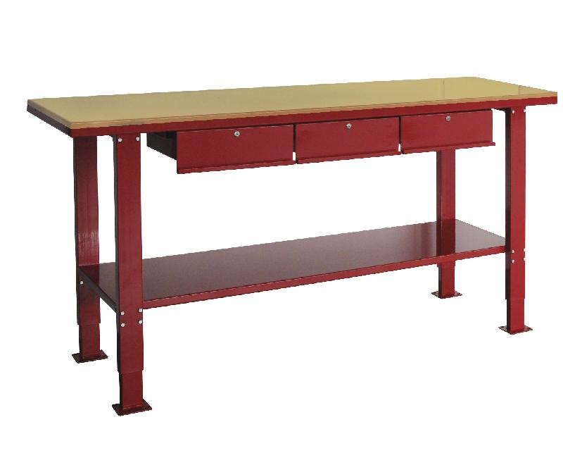 etabli 150 cm avec pieds reglables plateau mdf 2 tiroirs mw tools der1500pw. Black Bedroom Furniture Sets. Home Design Ideas