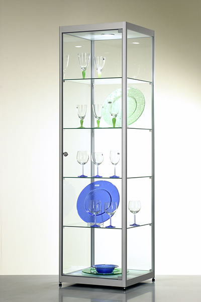 Vitrine haute d 39 exposition st0050 for Vitrine verre but