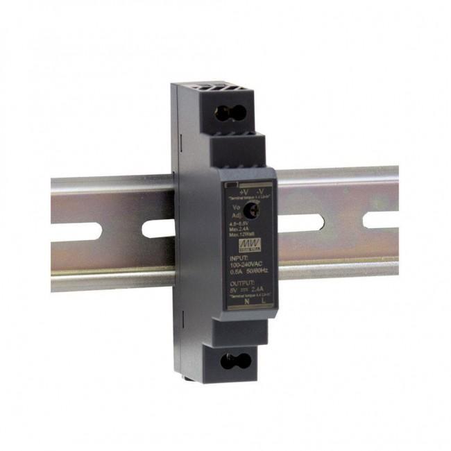 HDR-15XX - CONVERTISSEUR AC VERS DC RAIL DIN 15W POUR TENSION DE SORTIE 5, 12, 2