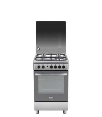 hotpoint ariston cuisiniere gaz four catalyse 50cm h5tgc1g x fr inox. Black Bedroom Furniture Sets. Home Design Ideas