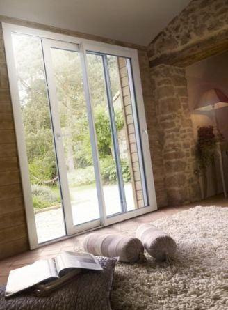 Portes Fenêtres Coulissant Pvc 2 Vantaux
