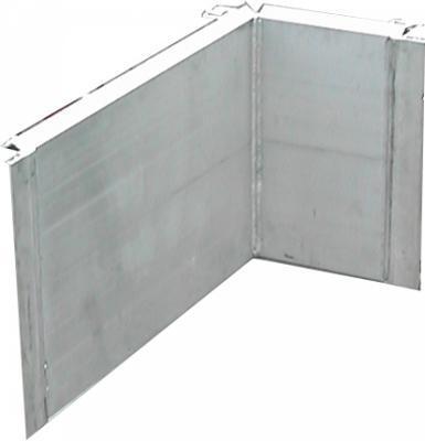 Panneau d'angle pour blindage de tranchées en aluminium gigant