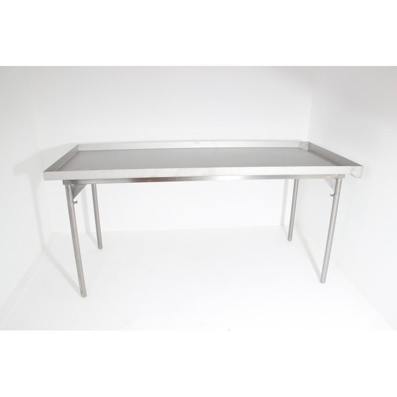 TABLE D'ÉGOUTTAGE AVEC GOULOTTE