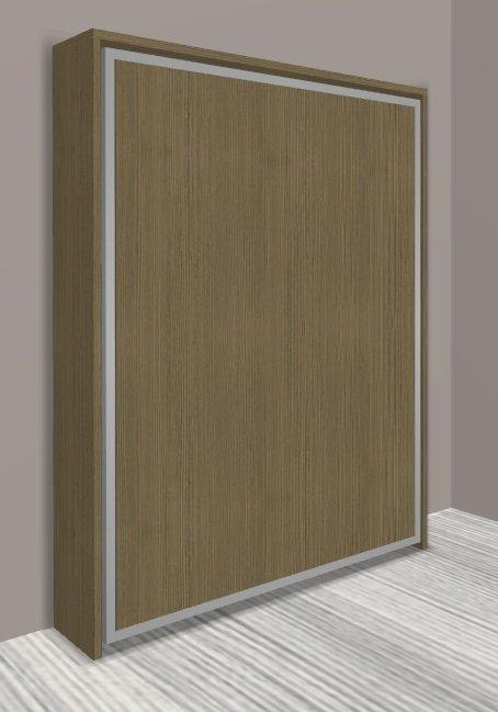 armoire lit escamotable cronos chene taupe couchage 140 22 200 cm. Black Bedroom Furniture Sets. Home Design Ideas