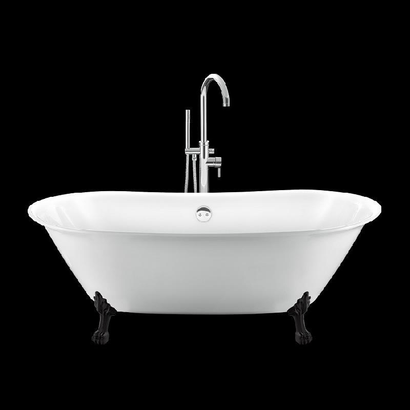 baignoire r tro surry hills 165 blanche avec pattes de lion noires comparer les prix de. Black Bedroom Furniture Sets. Home Design Ideas