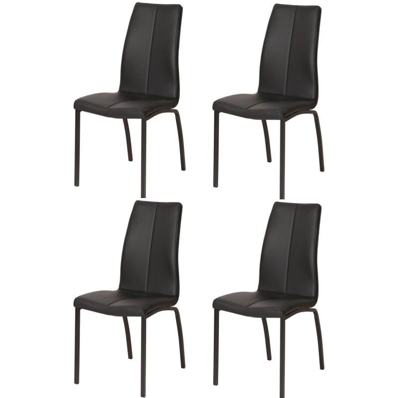 Lot de 4 chaises design halvor 95cm noir paris prix