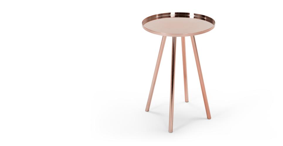 alana table de chevet cuivre. Black Bedroom Furniture Sets. Home Design Ideas
