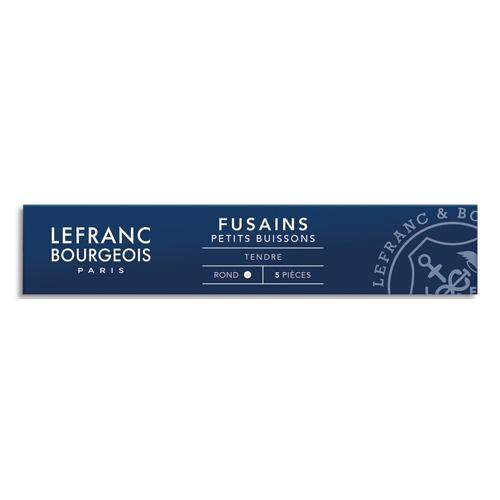 LEFRANC & BOURGEOIS ETUI 5 FUSAINS PETIT BUISSON. TRACÉ NOIR