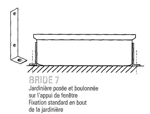 France urba produits brides de fixation - Fixation jardiniere fenetre ...
