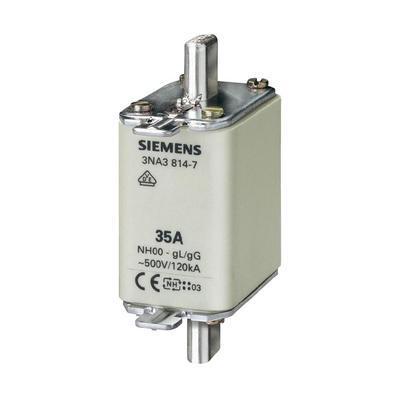 FUSIBLE NH SIEMENS 3NA38227 TAILLE DU FUSIBLE = 00 63 A 500 V/AC, 250 V/AC