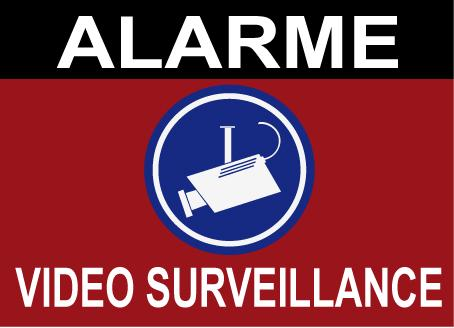 panneau de dissuasion alarme video surveillance cam. Black Bedroom Furniture Sets. Home Design Ideas