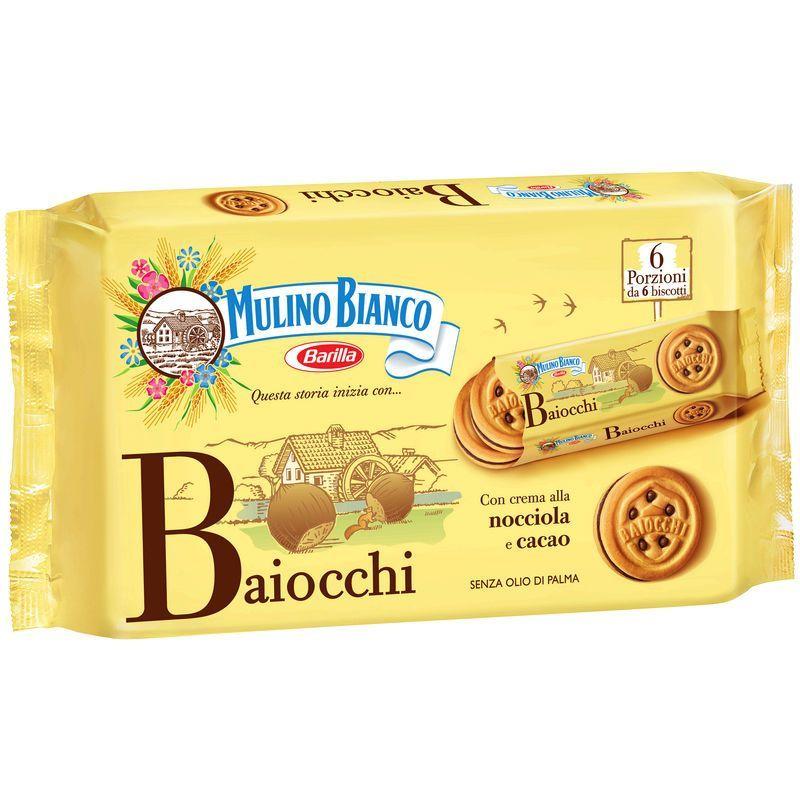 Biscuit fourré noisette cacao baiocchi 336g - barilla