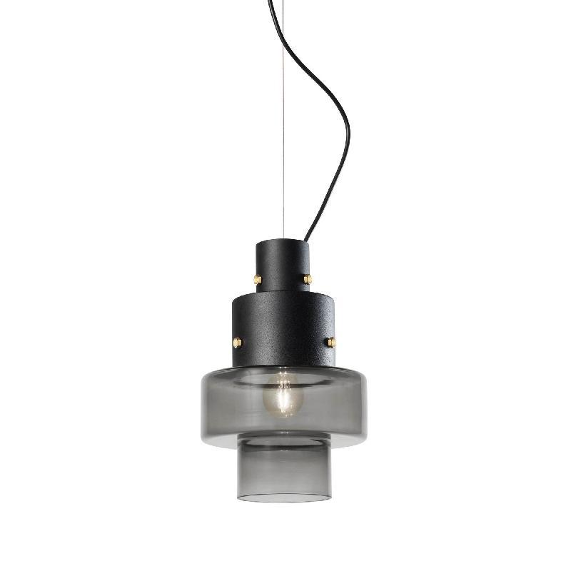 gask suspension verre fum gris 17cm suspension diesel with foscarini design par diesel. Black Bedroom Furniture Sets. Home Design Ideas