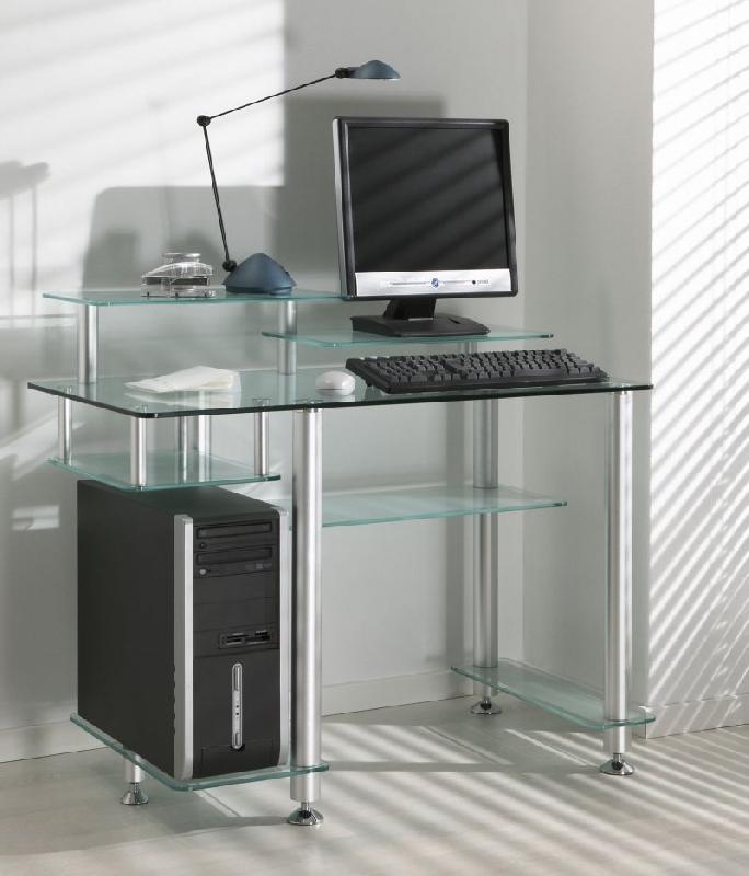 bureau en verre excellent moissy cramayel meubles table. Black Bedroom Furniture Sets. Home Design Ideas