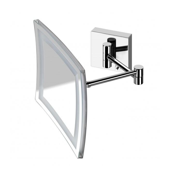 MIROIR GROSSISSANT CARRE' POLLINI ACQUA DESIGN EBOX33A | CHROME