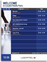 Panneau d'affichage lumineux - système d'information interactif eliise