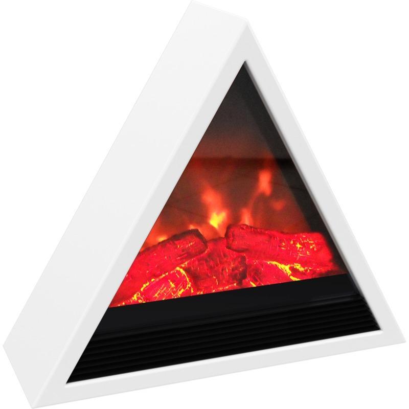 chemin e electrique 1800w pyramidale blanche cayenne comparer les prix de chemin e electrique. Black Bedroom Furniture Sets. Home Design Ideas