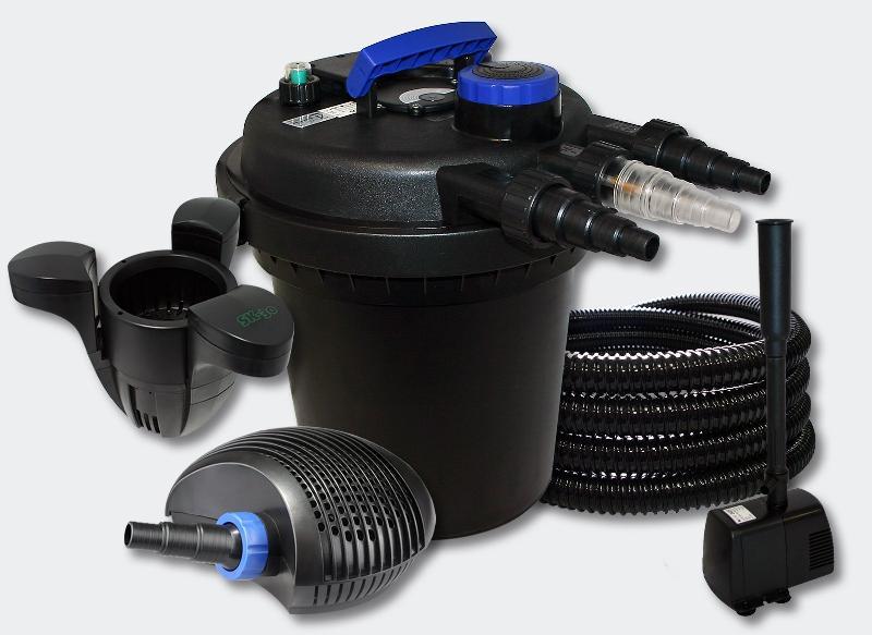 Kit filtration bassin 6000l 11 watts uvc 10 watts pompe tuyau skimmer fontaine 4216229