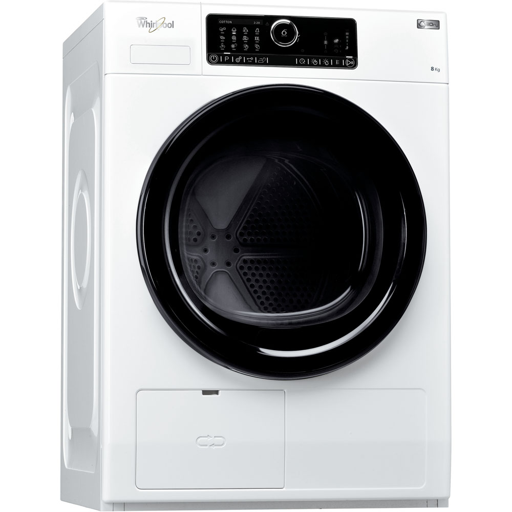 Sèche-linge à pompe à chaleur whirlpool : posable, 8 kg - hscx 80531