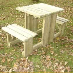 table pique nique banc noisetiere longueur cm comparer les prix de table pique nique banc. Black Bedroom Furniture Sets. Home Design Ideas