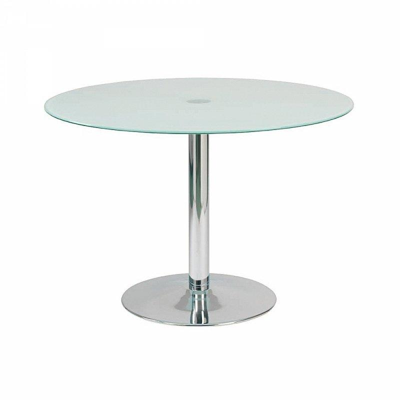 Table de repas design rondo blanche et chrome for Table de repas design