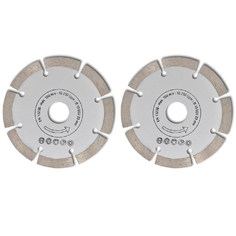 Vidaxl 2 disques diamantés pour meuleuse150 mm