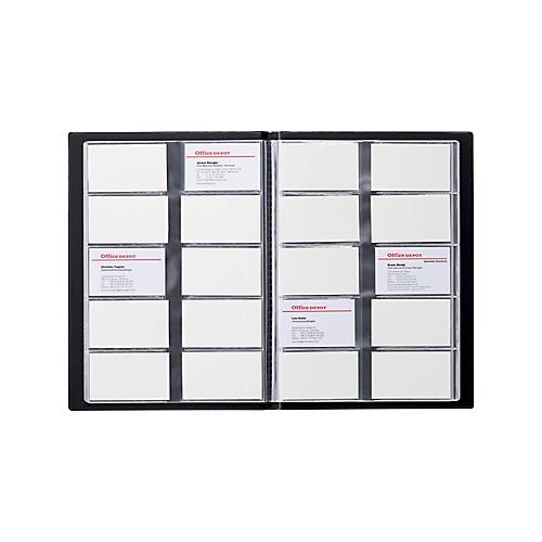 ALBUM 400 CARTES DE VISITE OFFICE DEPOT 2537-01 23 X 0 3 X 31 CM NOIR